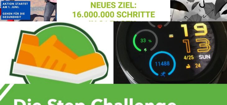 Sommer Step-Challenge im Juni 2021 erfolgreich gestartet